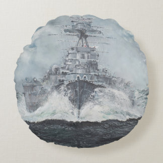 Hood heads for Bismarck 23rdMay 1941. 2014 Round Pillow
