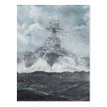 Hood heads for Bismarck 23rdMay 1941. 2014 Postcard