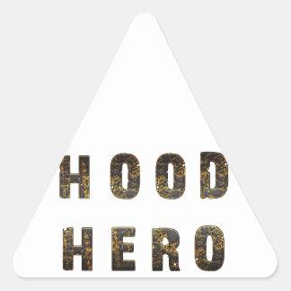 Hood Hero Triangle Sticker