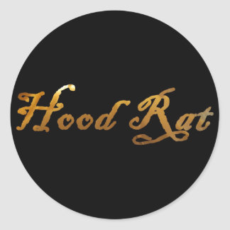 hood rat 2k10 classic round sticker