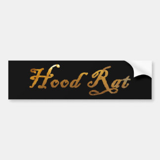 hood rat bumper sticker