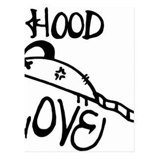 Hood Rat Love Postcard