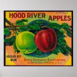 Hood River Apple Crate LabelHood River, OR Poster
