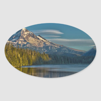 Hood River Oregon Pegatina Ovalada