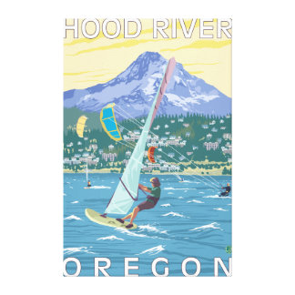 Hood River, ORWind Surfers & Kite Boarders Canvas Print