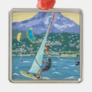 Hood River, ORWind Surfers & Kite Boarders Metal Ornament