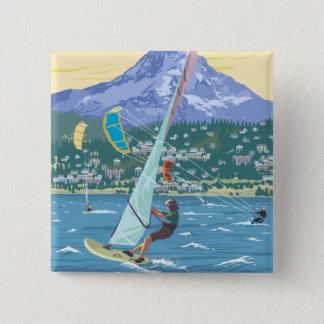 Hood River, ORWind Surfers & Kite Boarders Pinback Button