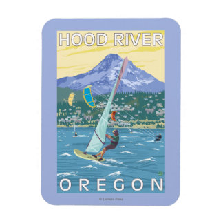 Hood River, ORWind Surfers & Kite Boarders Rectangular Photo Magnet