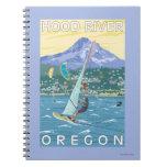 Hood River, ORWind Surfers & Kite Boarders Spiral Notebook