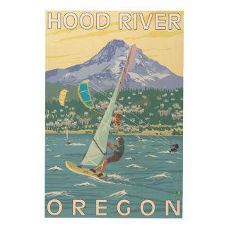 Hood River, ORWind Surfers & Kite Boarders Wood Wall Decor