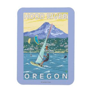 Hood River, personas que practica surf de ORWind y Imán Foto Rectangular