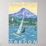 Hood River, personas que practica surf de ORWind y Impresiones