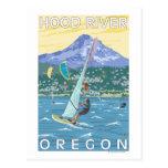 Hood River, personas que practica surf de ORWind y Postal