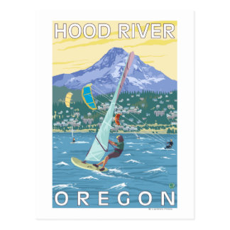 Hood River, personas que practica surf de ORWind y Postales