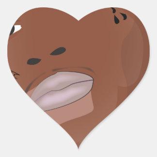 Hood star heart sticker