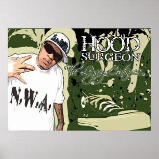 hood surgeon N.W.A. Poster