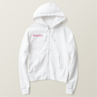 Hood sweat shirt embroidered of closing