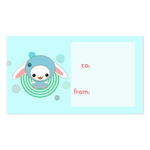 hooded bunny gift tag Double-Sided standard business cards (Pack of 100)