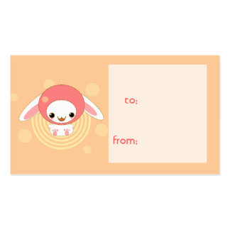 hooded bunny gift tag business card