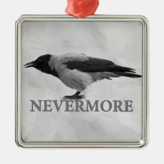 Hooded Crow - Nevermore Metal Ornament