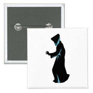 Hooded figure from side hand out buttons