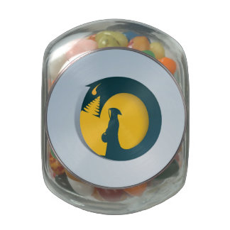 Hooded Figure with Monster Shadow Jelly Belly Candy Jars