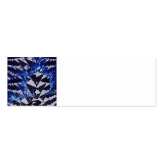 Hooded Fractals Double-Sided Mini Business Cards (Pack Of 20)
