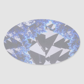 Hooded Fractals 'Your Text Here' Oval Sticker