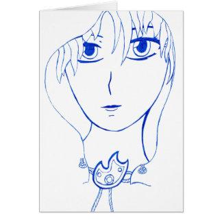 Hooded Girl Card
