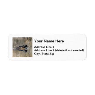 Hooded Merganser Label