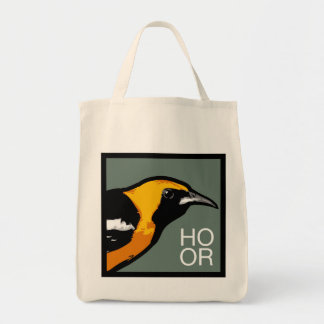 Hooded Oriole cotton grocery bag