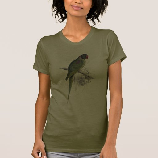 Hooded Parrakeet by Edward Lear Tee Shirts
