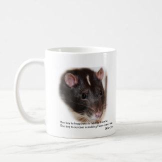 Hooded rat with sayings mug