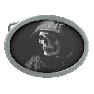 """Hooded Skeleton"" Belt Buckle"