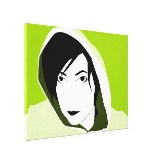 hooded stare canvas print