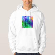 Hooded Sweatshirt - Psychedelic Fractal blue