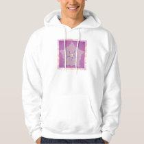 Hooded Sweatshirt - Purple Star Fractal Pattern