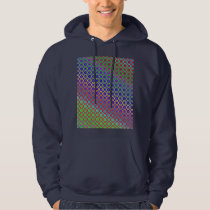 Hooded Sweatshirt- Rainbow Mandala Fractal Pattern Hoodie