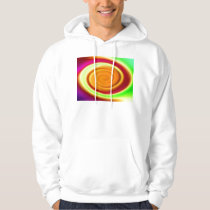 Hooded Sweatshirt - Rainbow Swirl Abstract Pattern