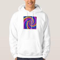 Hooded Sweatshirt - Rainbow Swirl Fractal Pattern