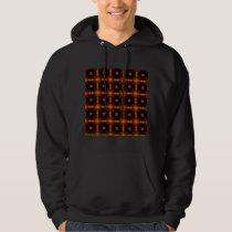 Hooded Sweatshirt- Retro Fractal Pattern red black Hoodie