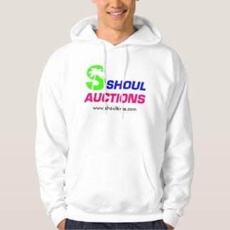 Hooded Sweatshirt, White Pullover