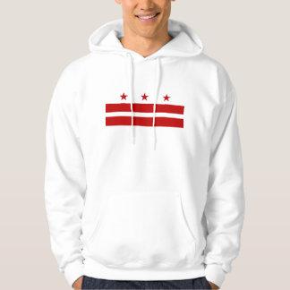 Hooded Sweatshirt with american flag