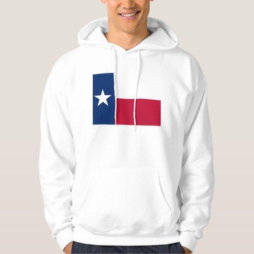 Hooded Sweatshirt with american Texas flag
