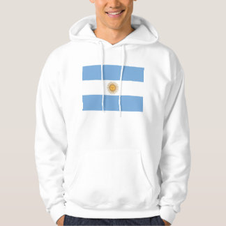 Hooded Sweatshirt with Flag of Argentina