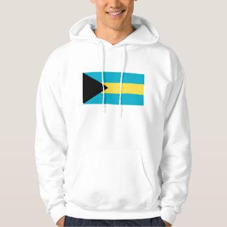 Hooded Sweatshirt with Flag of Bahamas