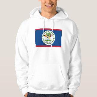 Hooded Sweatshirt with Flag of Belize