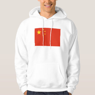 Hooded Sweatshirt with Flag of China