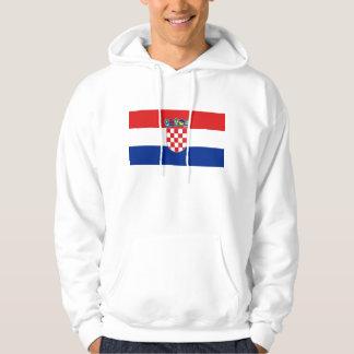 Hooded Sweatshirt with Flag of Croatia
