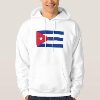 Hooded Sweatshirt with Flag of Cuba